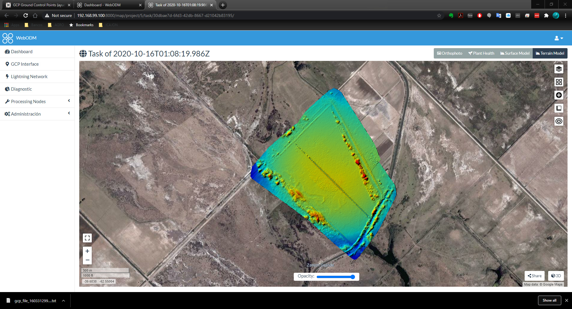 OPENDRONMAP SIN GCP